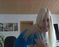 My bae engulfing large hard weenie deepthroat whilst I film her on web camera