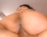 Mature skinny stud with huge rod bangs and eats this horny white wife from behind