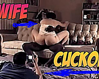 Sex on vacation - white wife first time with black cuckold