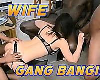 Gang Banging Wife / Hot busty girl sucks and rides