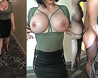 Hot white wife having fun / Hot Body QOS MILF