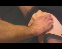 Friend visits to cum inside my slutwife while I stand see and film