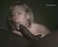 Wife cuckolds hubby while mocking him