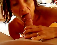 Girlfriend oral-service and can't live without cum on her face pov dilettante porn