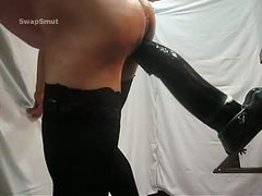 The fucker with a massive dildos Part IV huge dark fake penis insertion