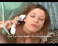 Nadia talks on phone