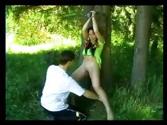Screaming Wife Gets Tied and Brutally Fucked at Picnic