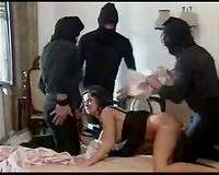 Three masked Robbers Rape Sleeping Home Alone Wife-Cuckold fantasies