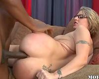 Classy big tits slutty white wife interracial sex