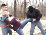 White blond wife dragged into woods- Rape Cuckold fantasies