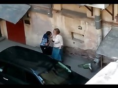 Amateur Slut's Wife Caught Fucking His Nephew In The Alley