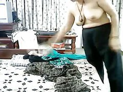 Busty Arab Slut Wife Fucked By Lover her Hubby at Work