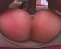 Luscious Lopez groans in a fuck with a dark knob