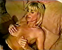 Blonde milf engulfing and fucking