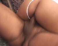 Asian in white underware sucks dongs and receives screwed