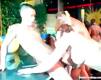 Bikini party angels are into getting drilled hardcore