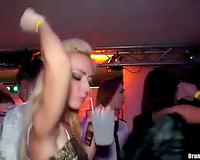 When not dancing those club harlots engulf wang