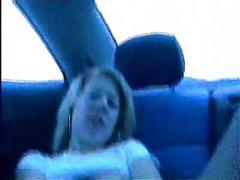 Masturbating in the car with black cock-Amateur Interracial Porn