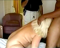 Big blonde milf gets her some negro cock