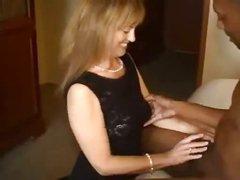 Trash talking white wife gets big black cock