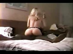 Blonde slutty wife gets a treat from hubby