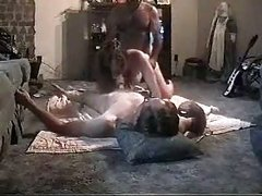 Amateur threesome caught on tape wife loves two dicks