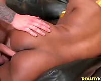 Hot dark white wife looks most excellent banging from behind