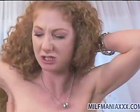Hairy box redhead filled with giant dark weenie