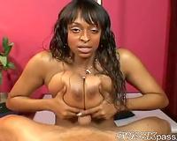 Must watch titjob from curvy dark playgirl
