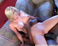 Blonde boned in wazoo by dark shaft