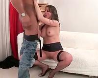 Really thick dark cock copulates a sexy milf
