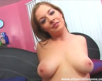 Big dark dong slips down her mouth