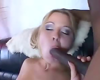 Voluptuous playgirl and her dark paramours acquire it on