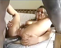 Huge dark dong does all 3 milf holes