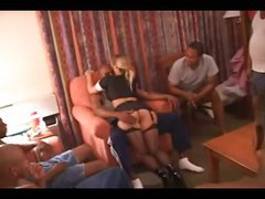 She loved being abased – interracial group sex