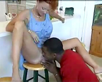 Hot older redhead has her snatch licked lustily