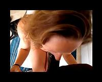 Cute white wife interracial orall-service clip