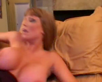 Curvy mama with large fake breasts screwed by BBC