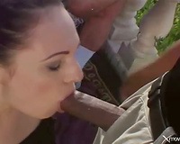 Anal fuck and a admirable spunk flow for the hawt BBC slut