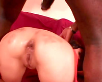 Interracial anal hardcore with 2 whores