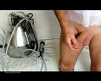 jock milking machine 39 suctioning my cum out