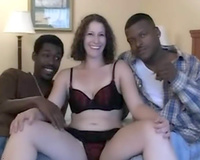 Black fellows for white floozy – interracial group sex sex