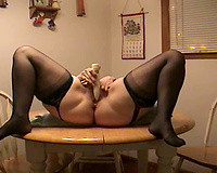 Blonde wife on her slut wife xmas training