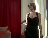 Classy big tits white slutty wife interracial sex