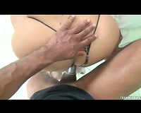 POV anal with lady-man doxy in pants