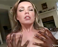 White slutty wife sits her backdoor on a dark 10-Pounder