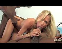 Black men blond cougar - Hot amateur wife has become a bimbo slut