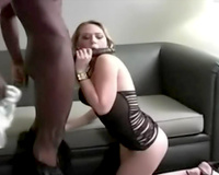 Busty white slut wife and a darksome ramrod Amateur interracial sex