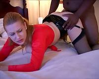Unfaithful breasty wife – interracial porn