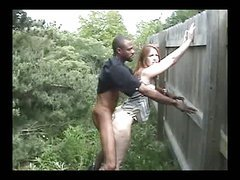 Quickie outdoors – interracial sex episode